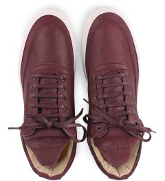 Filling Pieces Full Grain Burgundy Lowtop Shoe Model Picutre