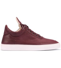 Filling Pieces Full Grain Burgundy Lowtop Shoe Picutre