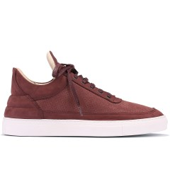 Filling Pieces Perforated Burgundy Lowtop Shoe Picutre