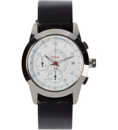 Miansai Black Polished M2 White All-Leather Watch Picutre