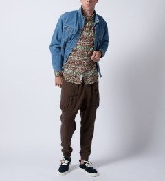 Mishka Earth King Jaffe Button-Up Poplin Shirt  Model Picture