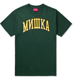 Mishka Hunter Green Cyrillic Varsity II T-Shirt  Picutre