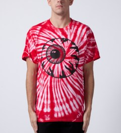 Mishka Red Dye Keep Watch Monochrome T-Shirt Model Picture
