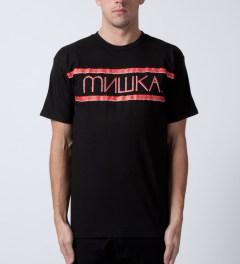 Mishka Black Distressed Heatseeker T-Shirt Model Picutre