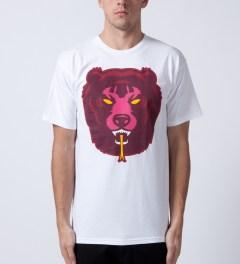 Mishka White Death Adder T-Shirt Model Picutre