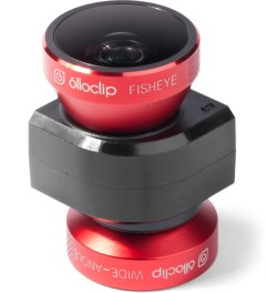 olloclip Red Lens/Black Clip and Black Case olloclip iPhone 5/5s: 4 in 1 Lens + Quick Flip Case Model Picture