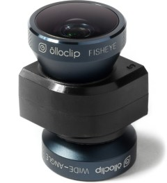 olloclip Black Lens/Black Clip and Black Case olloclip iPhone 5/5s: 4 in 1 Lens + Quick Flip Case and Pro-Photo Adapter Model Picture
