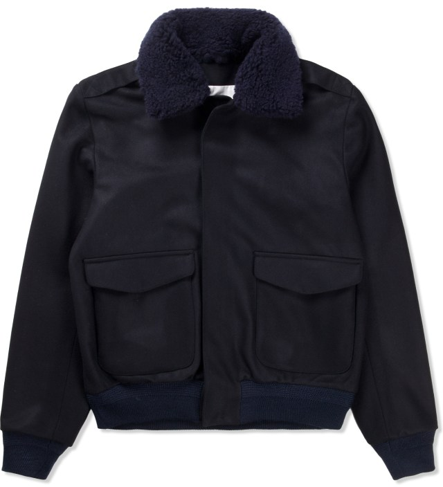 Navy/Black Aviator Jacket