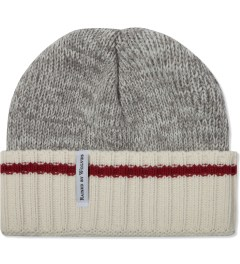 Raised by Wolves Heather Grey/Red Stripe Old Port Watch Cap  Picutre