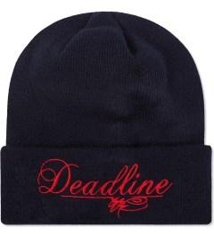 SSUR SSUR x Deadline Navy Script Logo Beanie Picutre