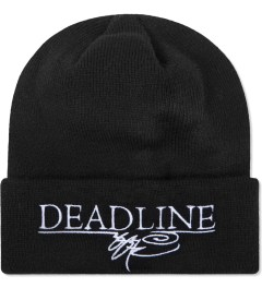 SSUR SSUR x Deadline Black Printed Logo Beanie Model Picture