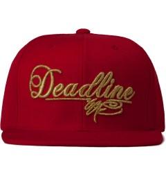 SSUR SSUR x Deadline Red Script Logo Snapback Cap Picutre