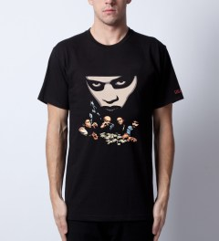 SSUR SSUR x Deadline Black Dead Presidents T-Shirt Model Picutre