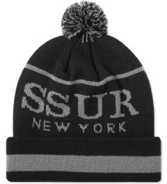 SSUR Charcoal/Black SSUR New York Pom Beanie  Picutre
