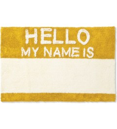 SECOND LAB Yellow HELLO MY NAME IS RUG Picture
