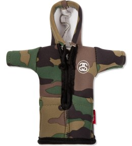 Stussy Olive Camo Foam Bottle Coozie Hoodie Picture