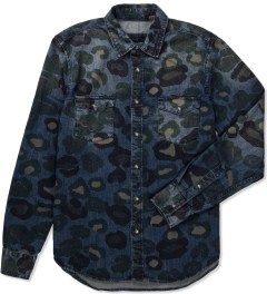 ZANEROBE Indigo Camo Cats with Guns Shirt Picutre