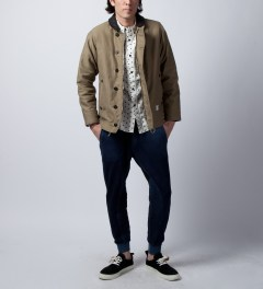 Band of Outsiders White Fighter Oxford Shirt Model Picture