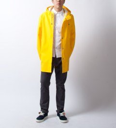 "Bedwin & The Heartbreakers Yellow ""Max"" L/S Bicolor R.Sleeve Broad Shirt  Model Picture"
