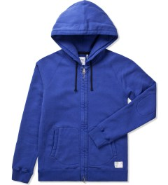 "Bedwin & The Heartbreakers Navy ""Anthony"" L/S Zip -Up Hoodie  Picutre"