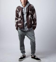Black Scale Black Kaiser Knitwear Jacket  Model Picture