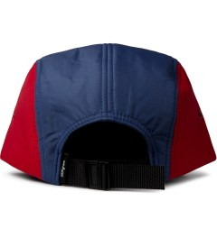 DQM Blue/Red Brunswick 5-Panel Camp Cap  Model Picture