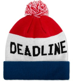 Deadline Red/White/Blue Tri Color Beanie Picutre