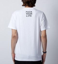 FTC White Fuck Your Language T-Shirt  Model Picture