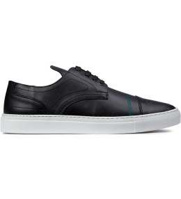 Filling Pieces Black Embroidered Oxford Cut Trainer Shoe Picture