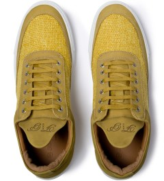 Filling Pieces Yellow Nubuck Low Top Shoe Model Picutre