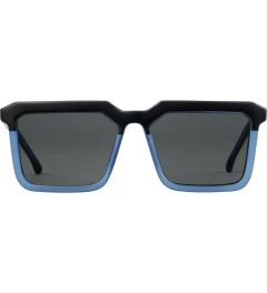 KOMONO Matte Black Smoky Blue Benicio Sunglasses Picture