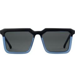 KOMONO Matte Black Smoky Blue Benicio Sunglasses Picutre