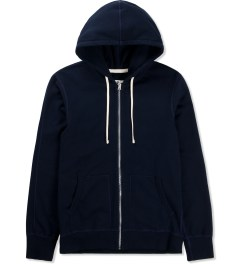 Reigning Champ Navy RC-3205 Midweight Twill French Terry Zip Hoodie Picture