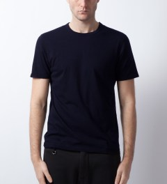 Reigning Champ Heather Navy RC-1028-1 Cotton Jersey T-Shirt Model Picture