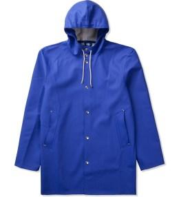 Stutterheim Cobolt Blue Stockholm Raincoat Picture