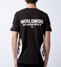 Stussy Black Big Links T-Shirt  Model Picutre