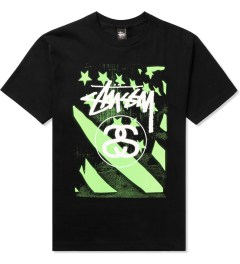 Stussy Black/Green Stussy Flag T-Shirt Picutre