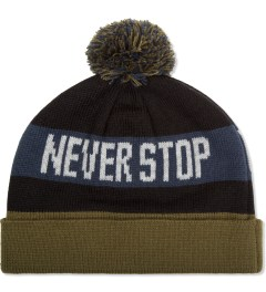 Us Versus Them Black Two Lane Pom-Pom Beanie Picutre