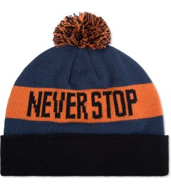 Us Versus Them Navy Two Lane Pom-Pom Beanie Picutre