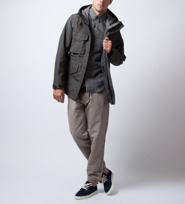 Charcoal wings+horns x nanamica x Ace Hotel Zip Front Hood Parka