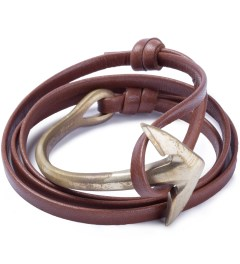 Miansai Brown Anchor Half-Cuff Brass Bracelet Picutre