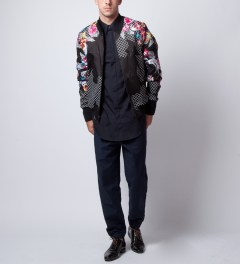 3.1 Phillip Lim Black New Wave Embroidered Zip Up Jacket  Model Picutre