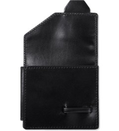 3.1 Phillip Lim Black Fold Tab Wallet  Model Picture