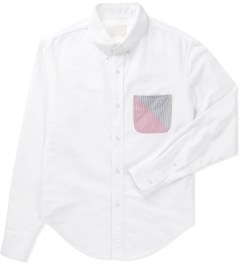 Band of Outsiders White Solid Oxford LS Button Down W/Split Pocket Shirt  Picutre