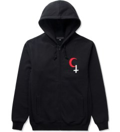 Black Scale Black Religious Holiday Zip Up Hoodie Picutre