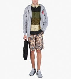Black Scale Heather Grey Religious Holiday Zip Up Hoodie  Model Picutre