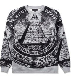 Black Scale Heather Grey Annuit 5 Sweater  Picutre