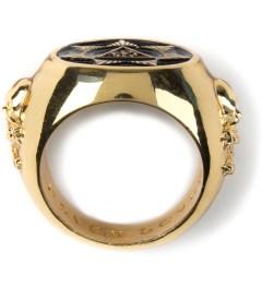 Black Scale Gold Seventh Star Ring Model Picutre