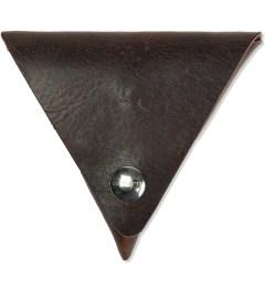 Carhartt WORK IN PROGRESS Leather Dark Brown Dime Case  Picture