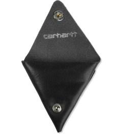 Carhartt WORK IN PROGRESS Leather Black Dime Case Model Picture